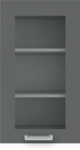 Кухня Вика тренд лайн, серый гранит-глянец
