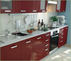 Кухня Вика бордо глянец, оливка